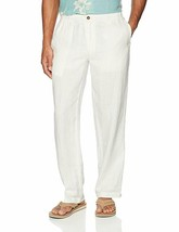 28 Palms Men's Relaxed-Fit Linen Pant with Drawstring, White, Medium 32 ... - $28.04