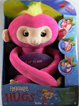 Fingerlings HUGS Bella Pink Monkey Plush Interactive toy 40 sounds New W... - $28.04