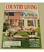 Country Living Magazine July 2000 Fifties Glassware Vintage Linens  - $8.35