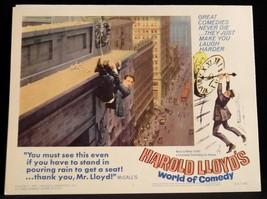 Harold Lloyd World of Comedy 1962 LOBBY CARD Safety Last 1 - $23.02