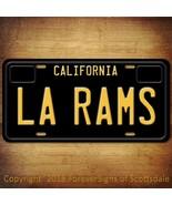 La Rams NFL Football California Vanity Aluminum License Plate Black - $12.82