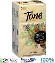 6 SOAP TONE BATH BARS Cocoa Butter Original Scent Vitamin E Fresh Soft S... - $20.35