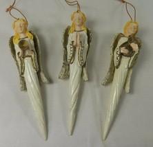 "Angel Christmas Holiday Ornaments Playing Instruments & Praying 5.25"" Se... - $9.50"