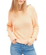 Free People Electric City Pullover Sweater Tangerine Size XS - $74.99