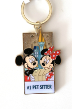 Disney Parks Mickey Minnie Mouse Character Metal Keychain #1 Pet Sitter NEW - $21.90