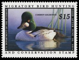 RW80, $15.00 2013 Common Goldeneye Federal Duck Stamp VF NH - Stuart Katz - $27.50