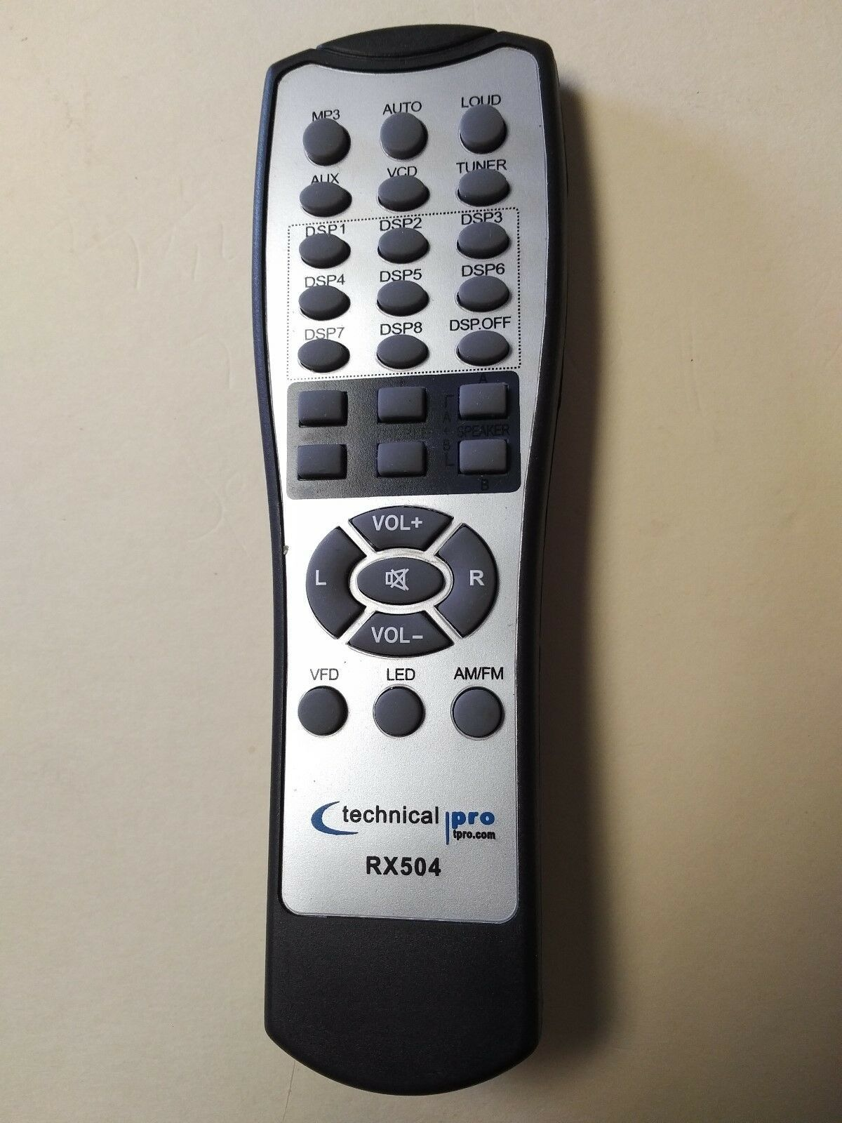 Original Technical Pro REMOTE CONTROL for RX503 RX504 RX505BT and others