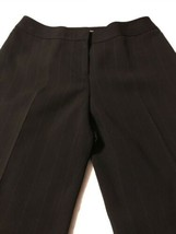 Ann Taylor Women's Pants Black Pinstripe Fully Lined Dress Pants Size 10... - $25.74