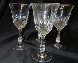 Fostoria Glass Set of 4 Clear Stem Goblets in Original Box Made in USA - $30.00