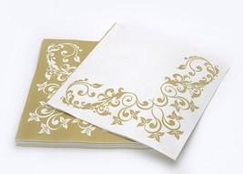 SimuLinen Colored & Decorative Napkins GOLD SPL... - $24.99