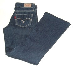 Levis 518 Women's Juniors Superlow BootCut Denim Stretch Jeans Size 26x27 - $13.95