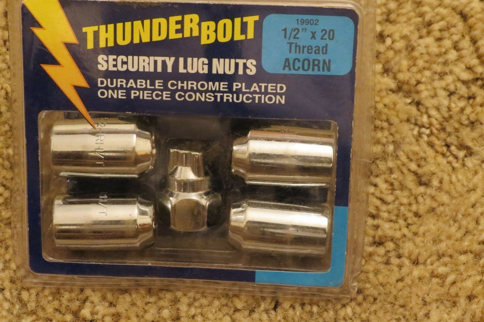 "Primary image for Thunder Bolt Security Lug Nuts 1/2"" x 20 Thread Acorn (19902)"