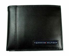 Tommy Hilfiger Men's Leather Credit Card Wallet Billfold Black 5675-01 image 4