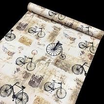 Shabby Chic Bike Contact Paper Self Adhesive Li... - $18.37