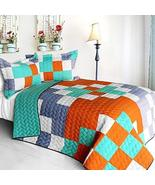 [Dream Proposal] 3PC Vermicelli - Quilted Patchwork Quilt Set (Full/Quee... - $100.97