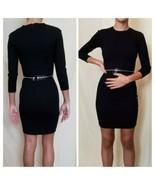 ALEXANDER MCQUEEN BLACK ZIPPER ACCENTED BODYCON DRESS  - $183.15