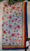 Coach Multi Floral Scarf 27x27 98551 MSRP $58 NWT Multicolor Multifloral - £21.92 GBP