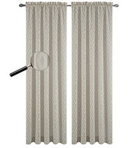 Urbanest 54-inch by 84-inch Portland Set of 2 Sheer Curtain Drapery Panels, Sand - $28.70