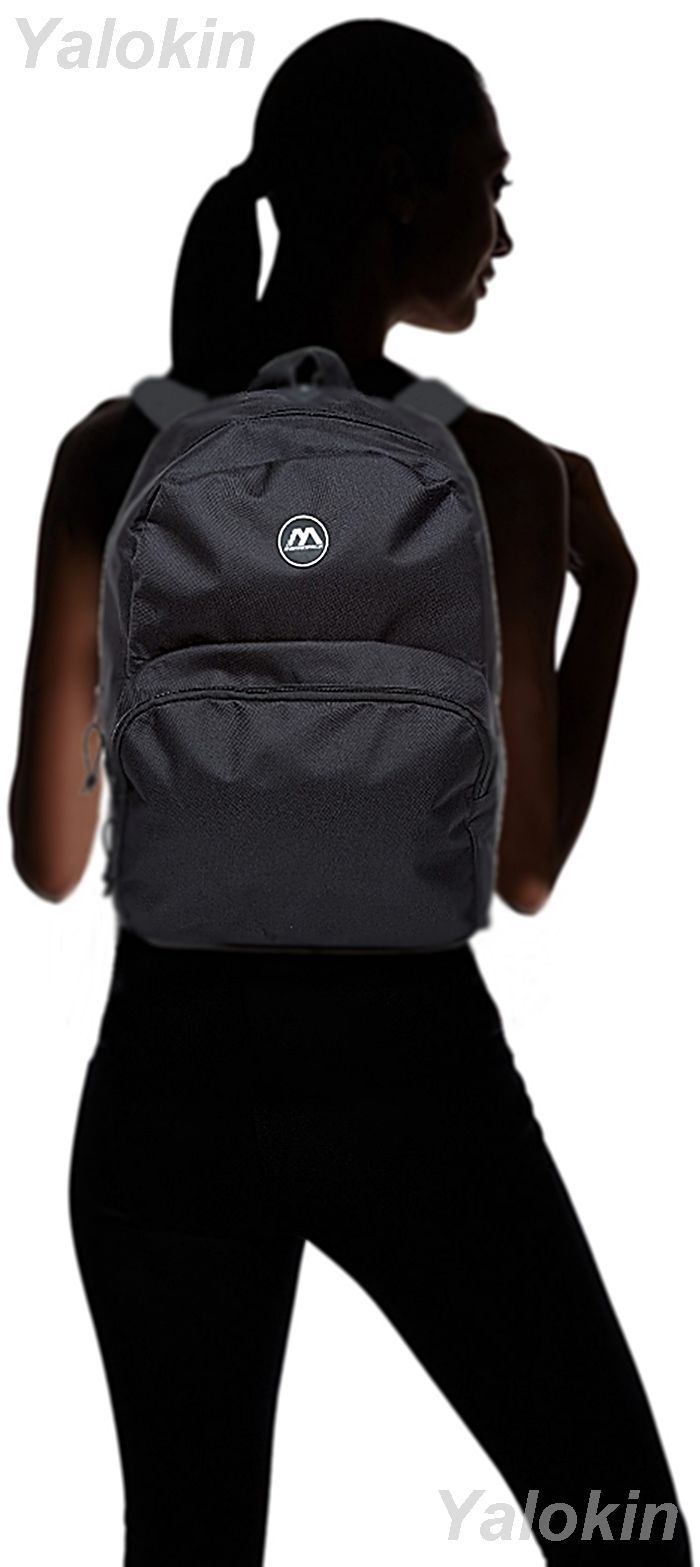 NEW Black Lightweight Unisex Compact Size Fashion Backpack Shoulder Book Bag