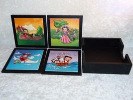 Betty Boop Trivet Set & Caddy Hot Pan Plate Holder by Sana 2007 KFS 4pc set - $44.63