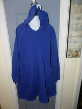 Hanna Andersson NEW 130 Girls Size 8 Dress Sweater Dress With Hood Blue  - $40.00