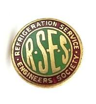 VTG Refrigerator Service Engineer Society RSES Gold Tine Enamel Pin Scre... - $55.00