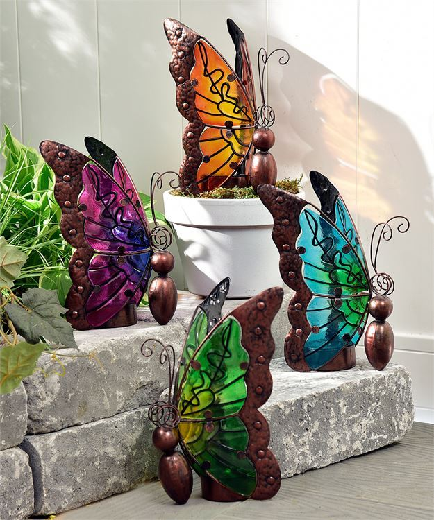 Nature's Conservatory Decorative Butterfly Design LED Lighted Decor