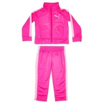 Puma Toddler Girls 2 Pc Tracksuit Set, Pink/White Colors. Size 2T(US). NWT - $24.74