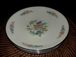 """Vtg Set Of 4  Homer Laughlin 8"""" Soup/Serving Bowl Floral M 55 N 1955 Sha... - $36.00"""