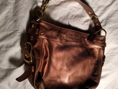 2878326f4d21 Coach Bronze Leather Hobo Handbag Purse and 50 similar items. 12