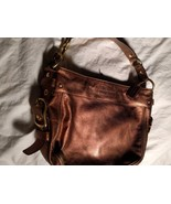 Coach Bronze Leather Hobo Handbag Purse F0882-12671  - $39.59