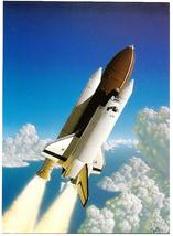 Kim Poor NASA Space Shuttle Sci fi Postcard The Morning Launch Novagraph... - $4.50