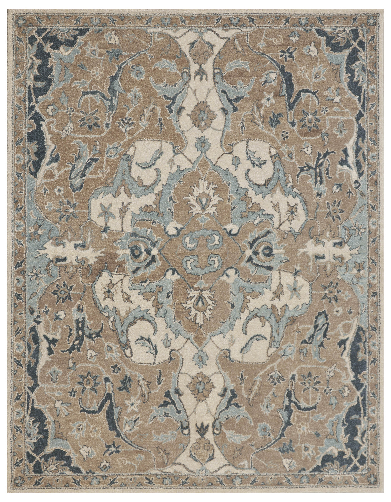 Brand New Hand Tufted Gray Blue Brown Traditional Persian