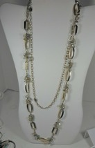 White House Black Marked 2 Strand Gold Tone & Bead Necklace - $19.79