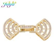 Fashion Jewelry Micro Pave Zircon Fan Shape Clasp Connector Sector Brace... - $9.56