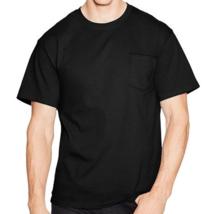 Mixed Set of 3 Hanes Mens 100% Cotton Tagless Henley & Plain T-Shirts Bl... - $19.99