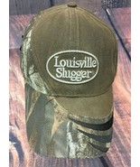 Louisville Slugger Baseball Cap Hat Camo Camouflage Mens Embroidered Brown - $17.76