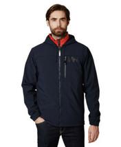 Helly Hansen Jacket Size Medium Navy Blue Soft Shell Active Full Zip Logo - $91.86