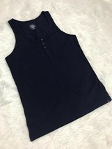 Tommy Hilfiger Navy Blue 3 Button Henley Tank Top Size XL Extra Large - $9.89