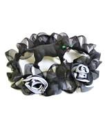 Black White Dog Lei, Pet Wedding Neckwear, Cat Neck wreath, Costume  - $6.50+
