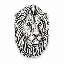 ANTIQUED STERLING SILVER LION HEAD PENDANT CHARM - 11.5 GRAMS - $49.83