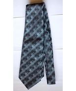 """Londonaire by Beau Brummell Men's Tie 55.5"""" long Gray Black Geometric Ne... - $19.79"""