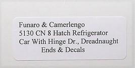 Funaro & Camerlengo HO CN 8 Hatch Reefer w/hinge door dreadnaught ends Kit 5130 image 3