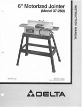 Delta Jointer Model# 37-280 Instruction Manual - $10.88