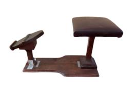 Primitive Vintage Handmade Wood Shoe Shine Stand Stool Post Footrest Foot Rest image 8