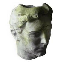 Large Greek Head Bust Garden Planter, Fiberstone Art Sculpture 24'' X 30''H - €347,90 EUR
