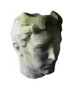 Large Greek Head Bust Garden Planter, Fiberstone Art Sculpture 24'' X 30''H - $395.01