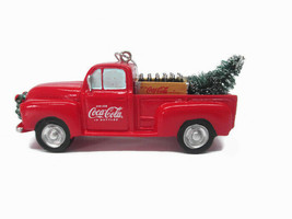 Coca-Cola Kurt S Adler Delivery Truck with Tree Holiday Christmas Ornament - $11.14