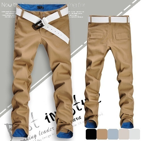 Fashion Men's Spring Sumer Autumn Slim Pants Pencil Skinny Classic Jeans Asian S