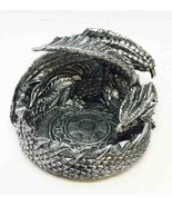 Ebros Smaug Mountain Castle Sleeping Dragon Ashtray Figurine Round Cigar... - $14.80